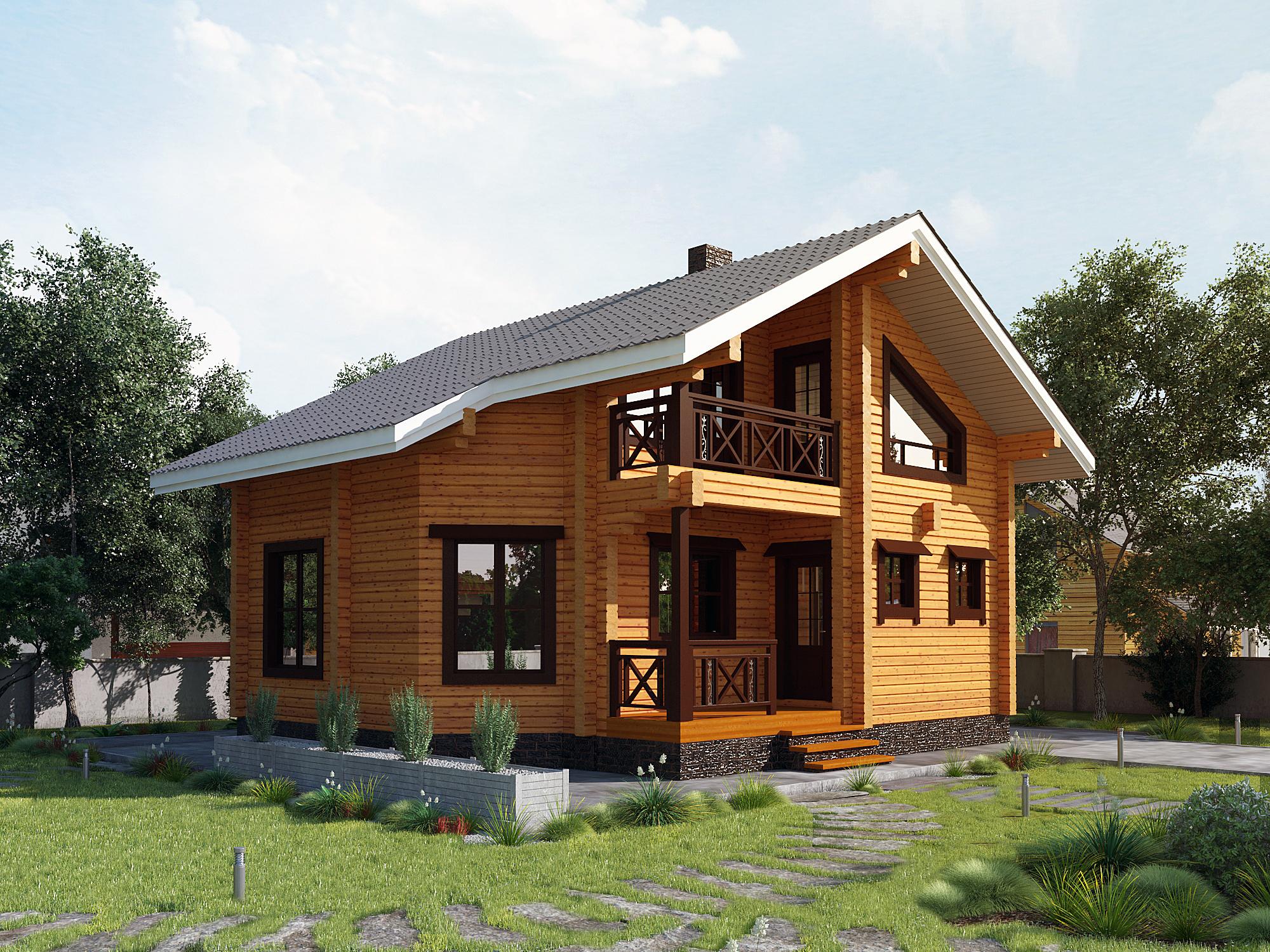 Внешний вид домов из бруса фото